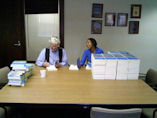 Lester & Millicent -- signing Plan B 4.0 for gifts