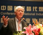 Lester Brown speaking at Beihang University