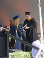 Matt receiving his degree