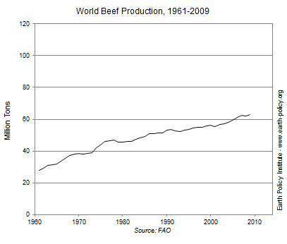 World Beef Production, 1961-2009