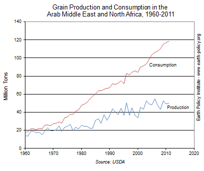 Grain Production and Consumption in the Arab Middle East and North Africa, 1960-2011