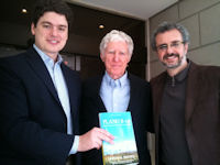 Lester with Edoardo Rivetti & Ricardo Voltolini, publishers of Portuguese Plan B 4.0